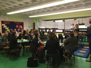 A tour of Success Academy Bronx 1 included almost exclusively charter school leaders (photo via @SuccessAcademy)